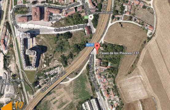 Parcela urbana en paseo de Pisones